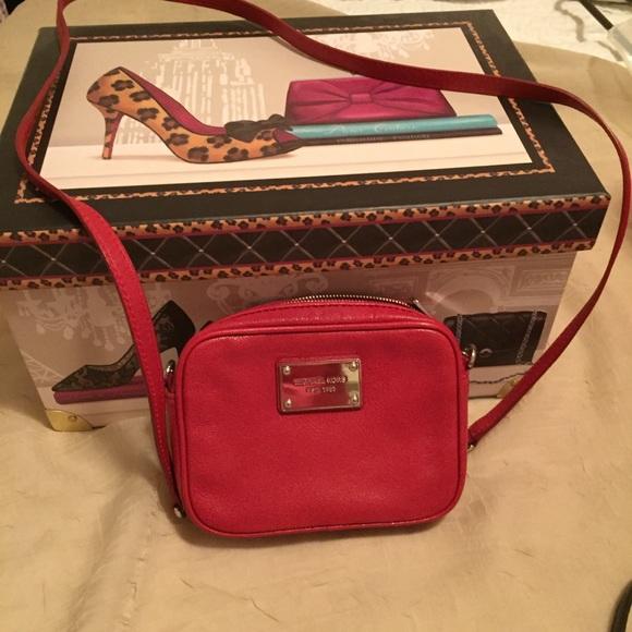 e4fc3a05cb43 Michael Kors Bags | Mk Cherry Red Leather Crossbody | Poshmark